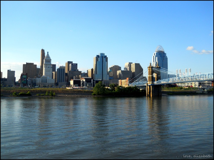 Cincinnati Skyline from across the Ohio River