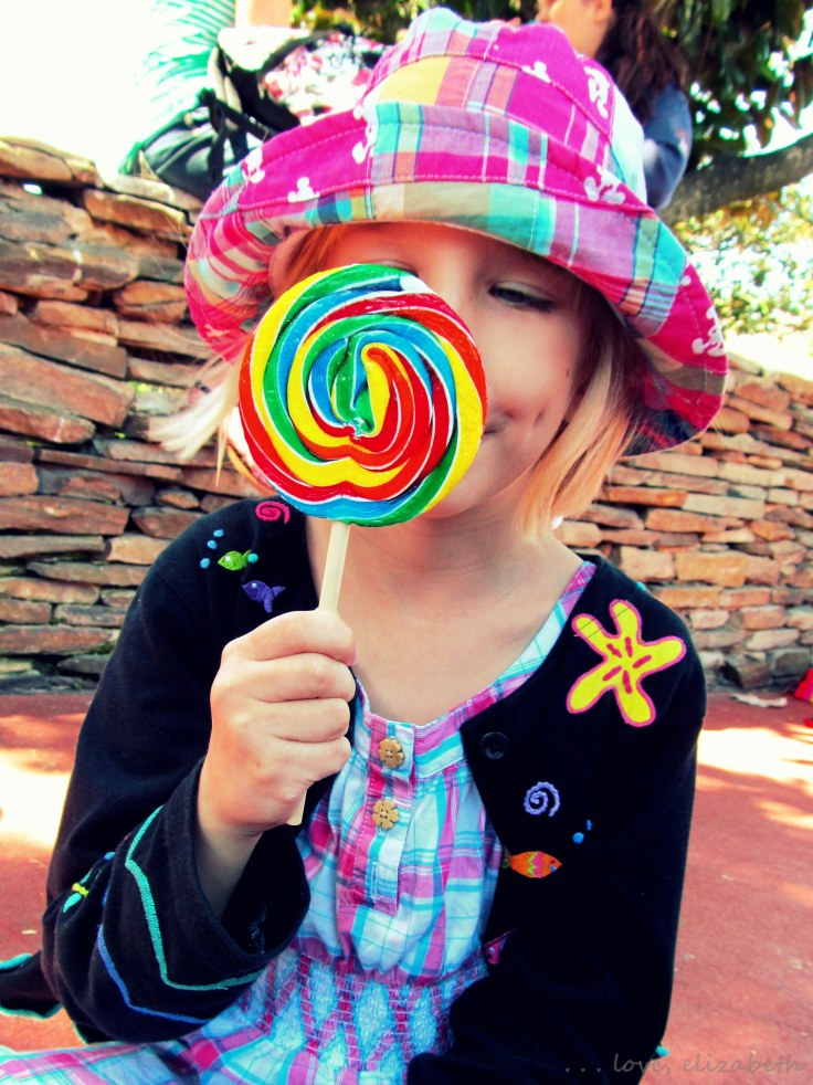 All Caroline wanted was a rainbow lollipop and the Peter Pan ride.