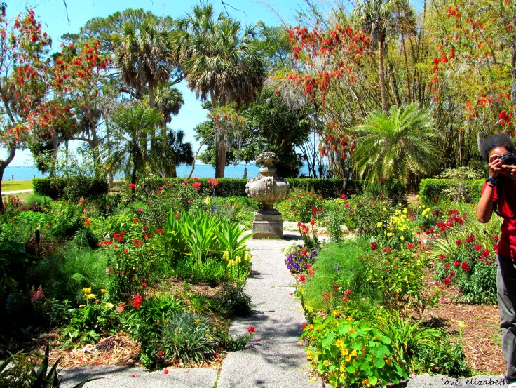 The Secret Garden with Sarasota Bay in the background.