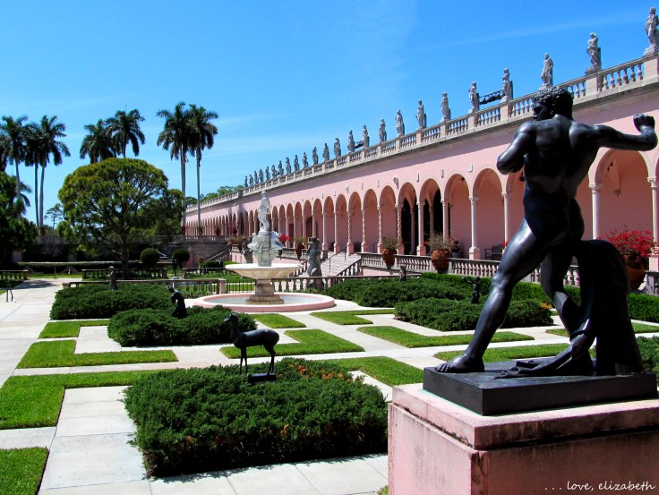 Statue garden in the courtyard