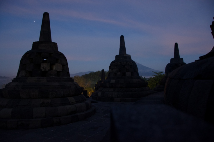 Stupas at Dawn