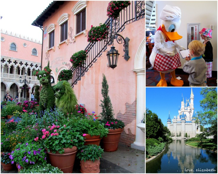 We spent times in several different parks and enjoyed some character dining at Disney World!