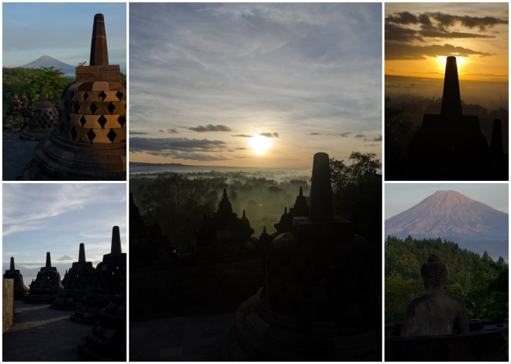 Borobudur Sunrise Collage