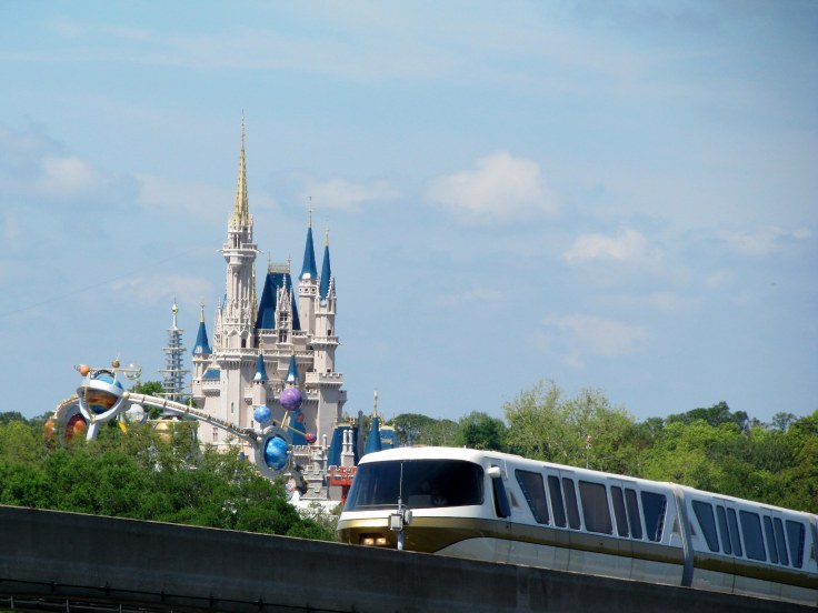 Monorail by Magic Kingdom