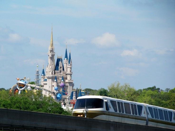 Monorail by Magic Kingdom